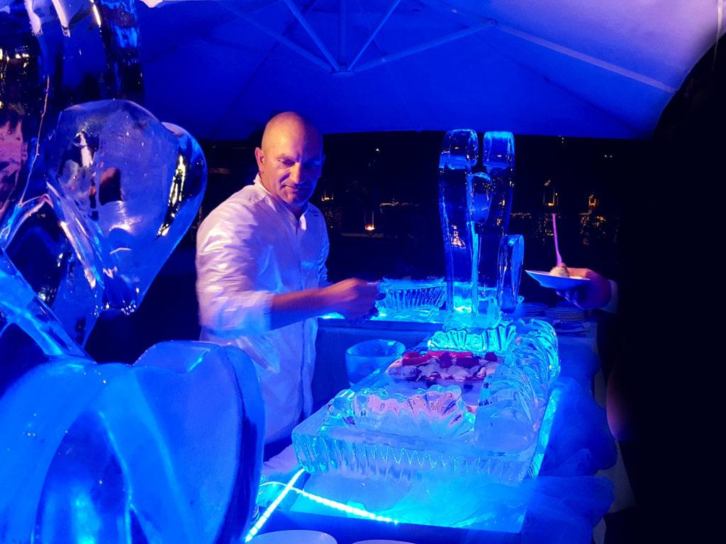 buffet sculture di ghiaccio e frutta 3 - Ghiaccio d'Arte