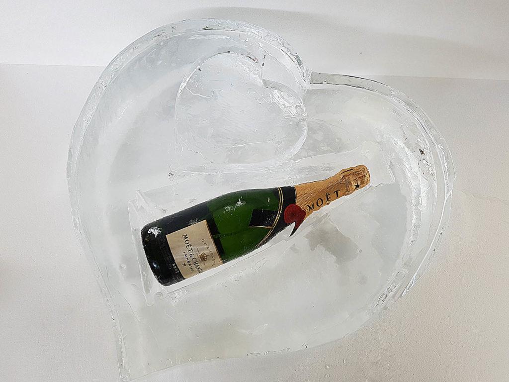 cuore e champagne - Ghiaccio d'Arte