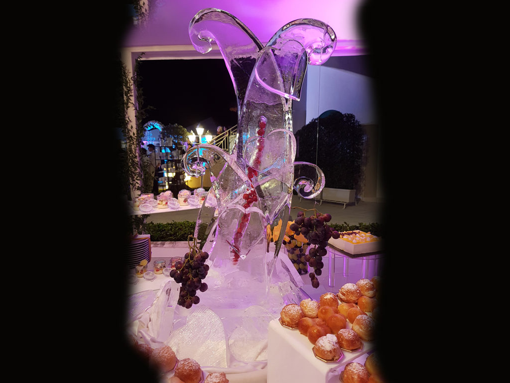 cuori di ghiaccio e frutta 5- Ghiaccio d'Arte