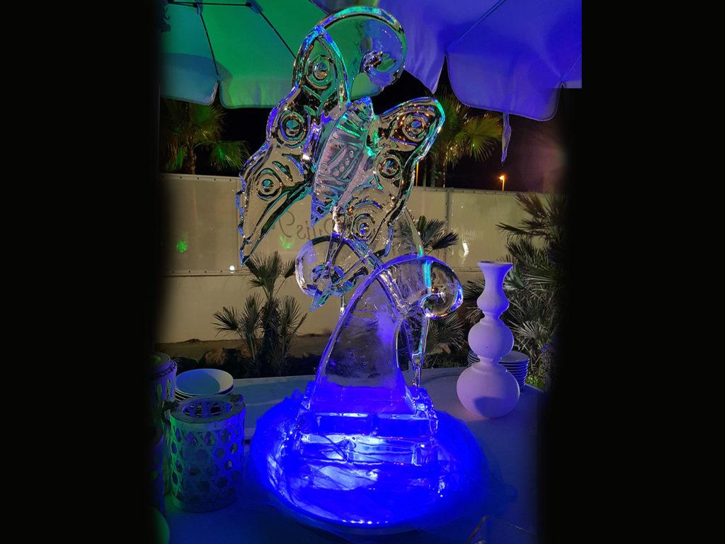 cuori e farfalle di ghiaccio- Ghiaccio d'Arte