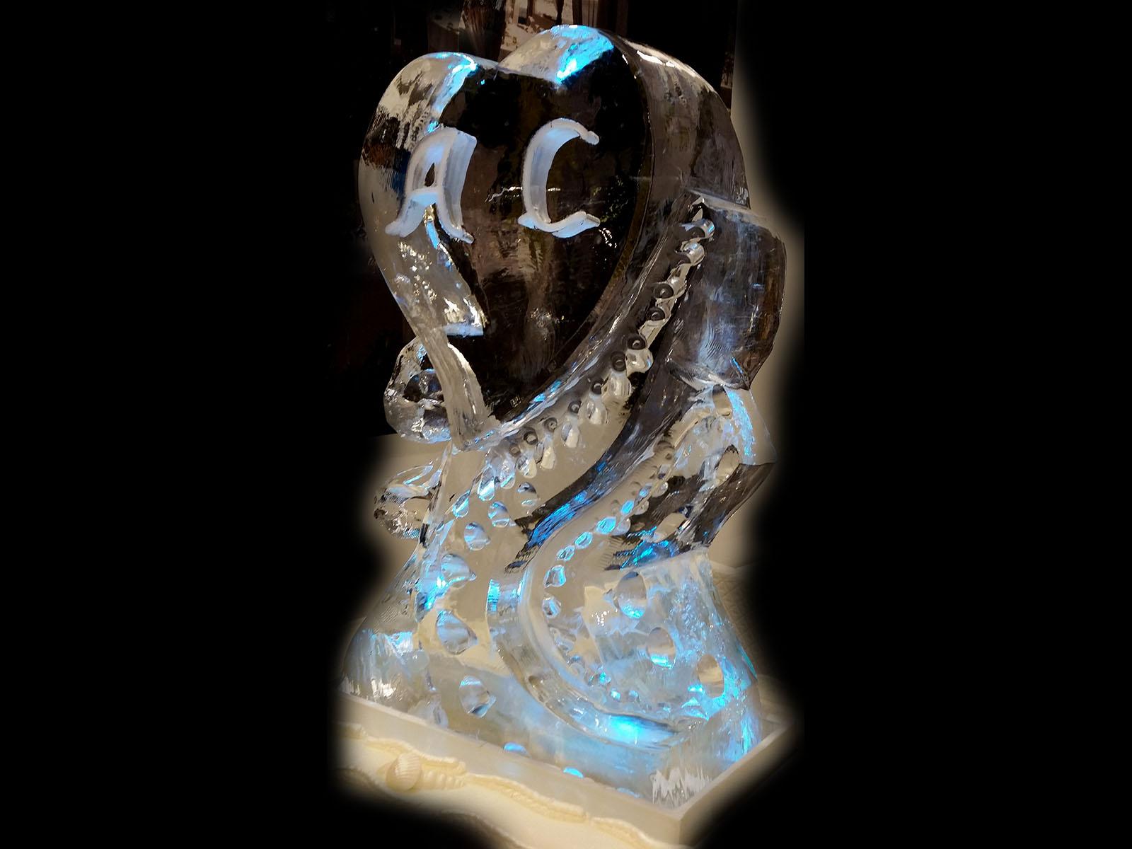 ice luge 2heart ice luge - Ghiaccio d'Arte