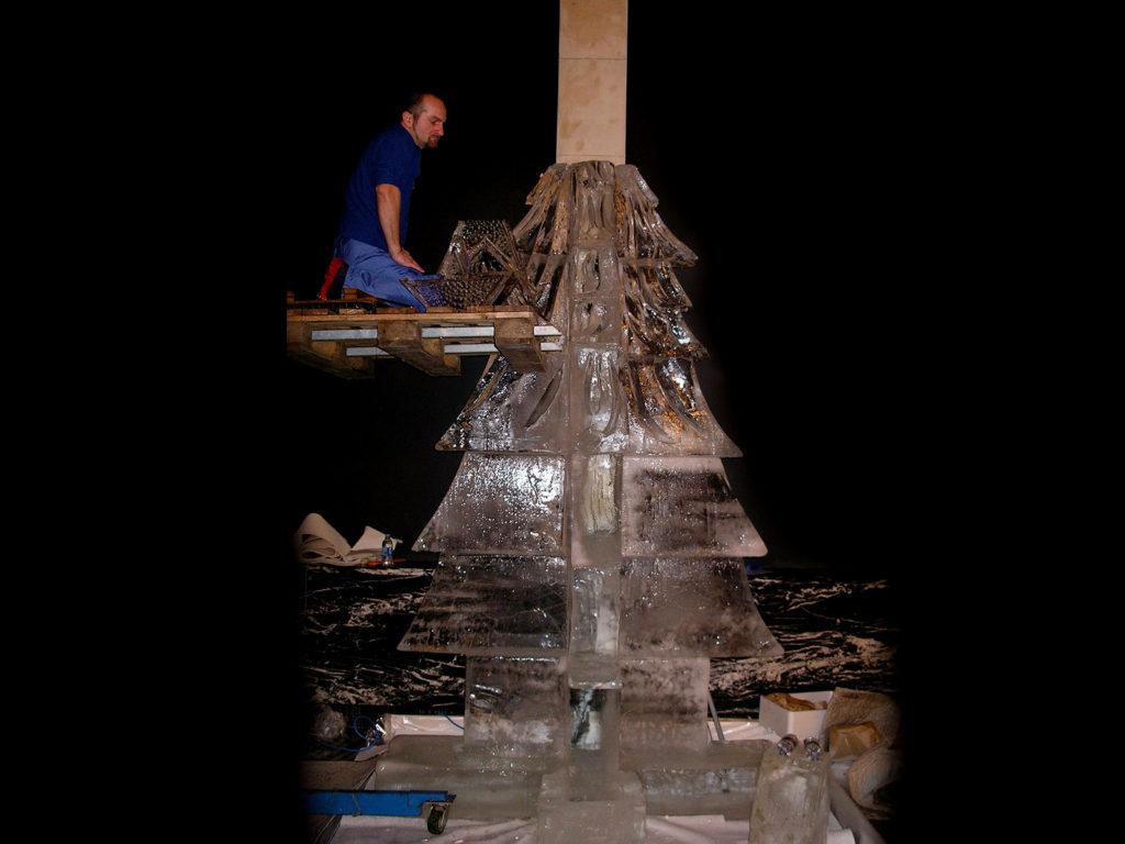 montaggio albero - Ghiaccio d'Arte