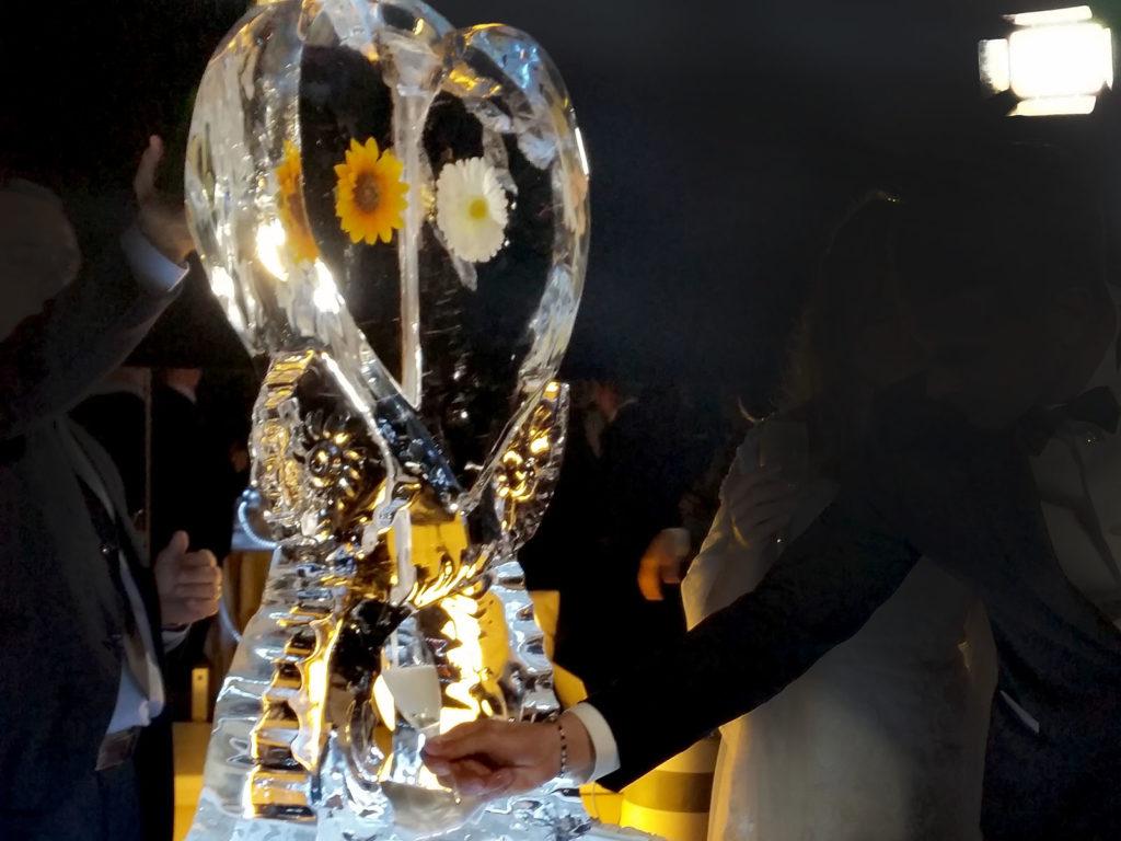 scivolo di ghiaccio per champagne 2- Ghiaccio d'Arte