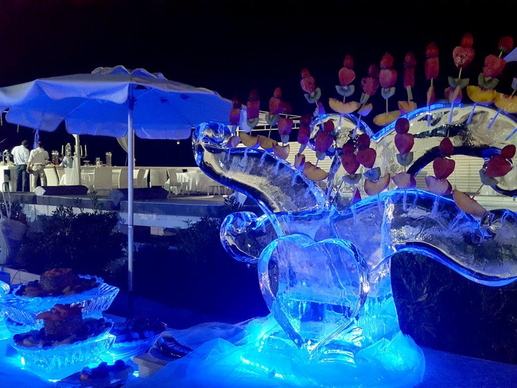 scultura di ghiaccio e frutta 6 - Ghiaccio d'Arte