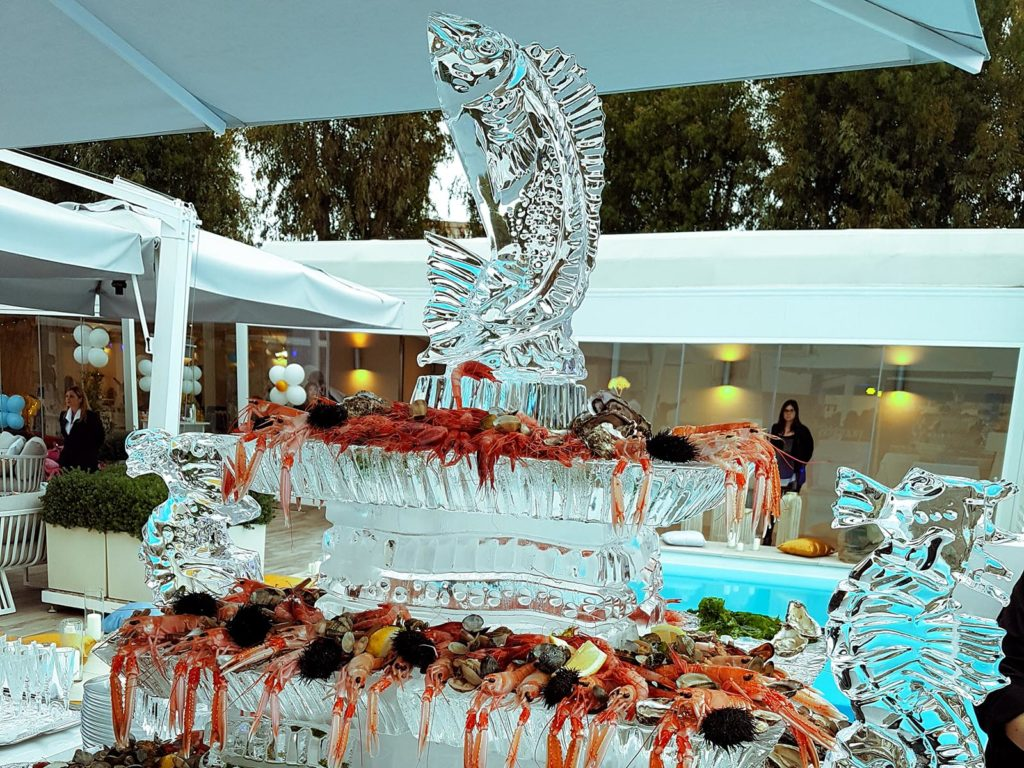 scultura di ghiaccio per crudi 11- Ghiaccio d'Arte