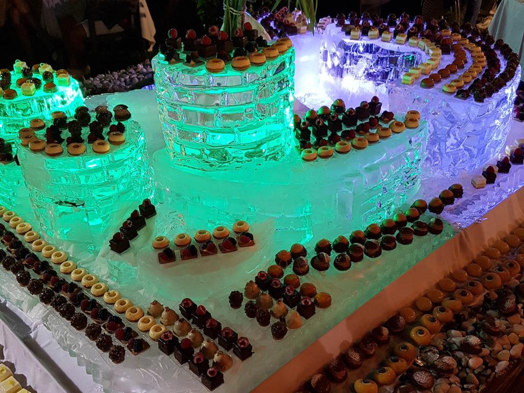 scultura di ghiaccio per caffe catt - Ghiaccio d'Arte