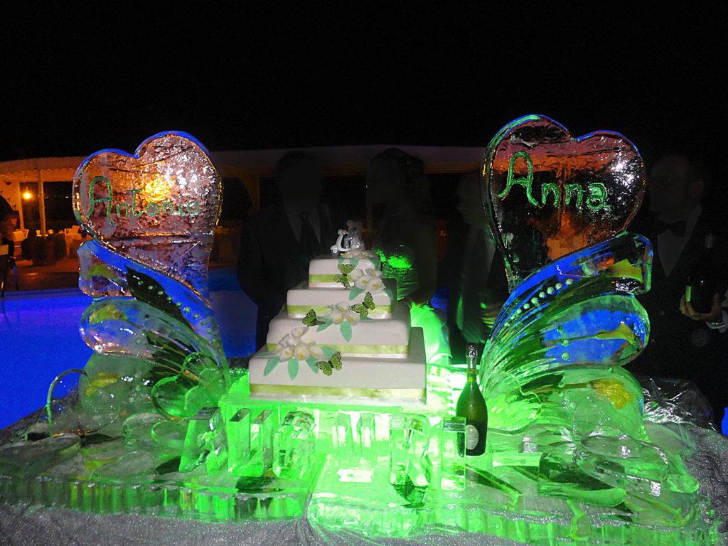 scultura di ghiaccio per torta 2 - Ghiaccio d'Arte