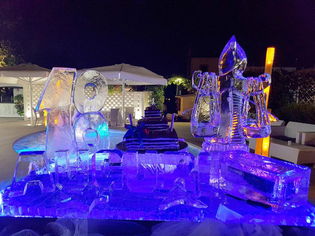 scultura di ghiaccio per torta 3 - Ghiaccio d'Arte