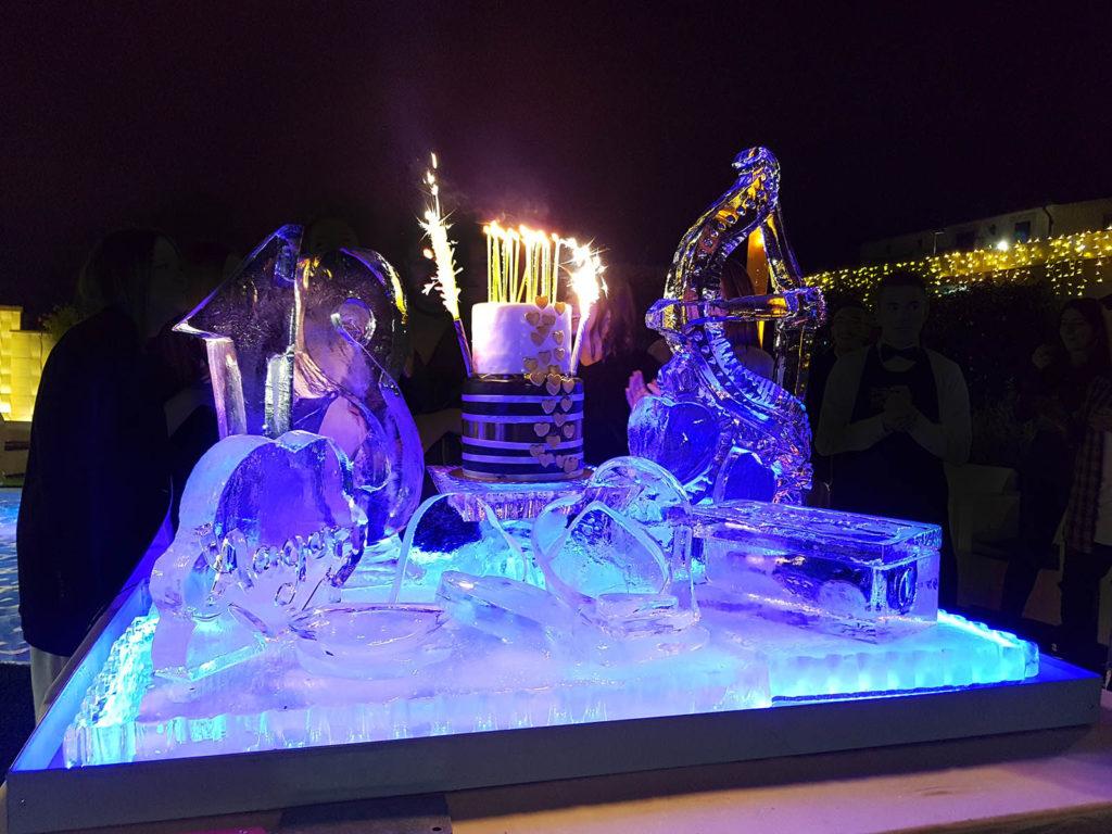 sculture di ghiaccio per torta 4 - Ghiaccio d'Arte