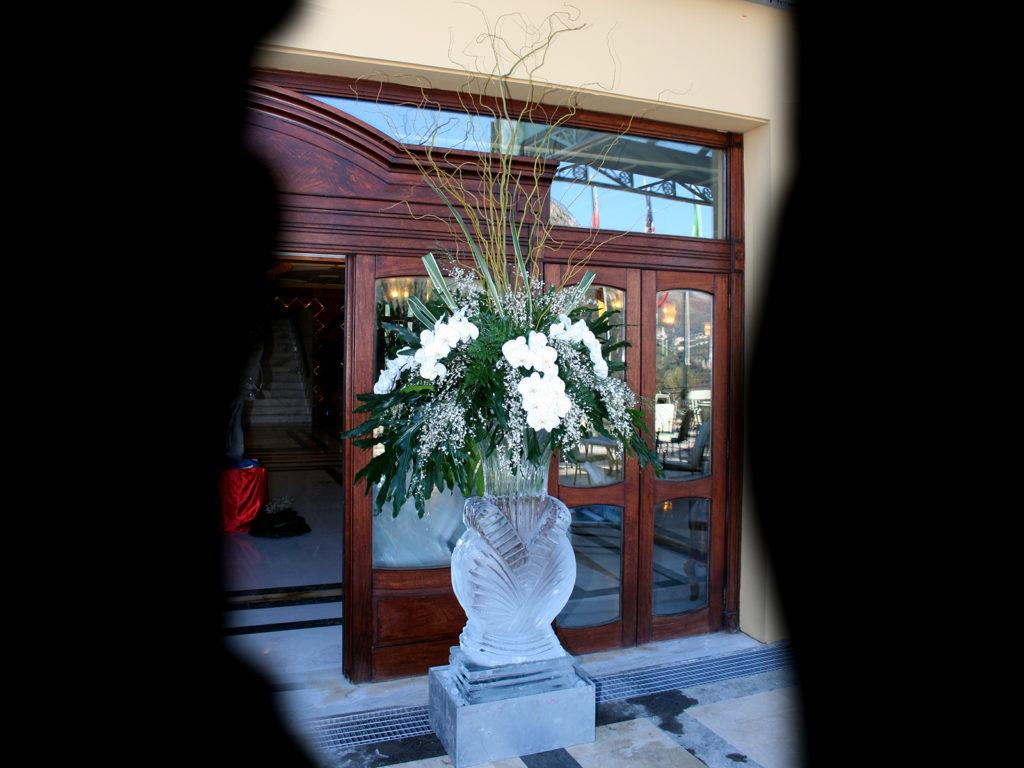 vaso e fiori 8 - Ghiaccio d'Arte